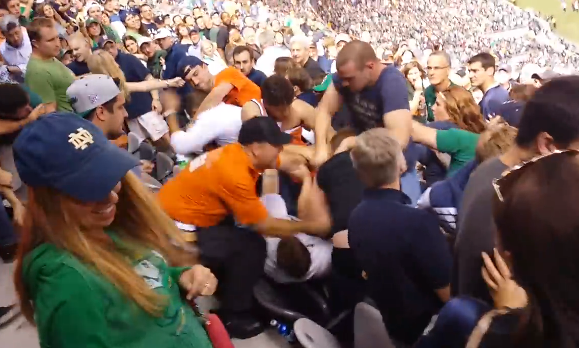 DA: 7 Thoughts On the Syracuse-Notre Dame Fan Brawl Video