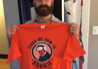 """Reader Doug in Chicago Rocking His """"Teach Me How to Dougie"""" Shirt"""