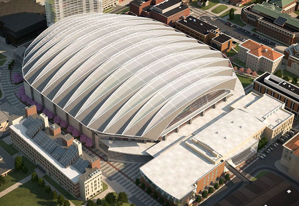 Carrier Dome Update First Glimpse Of The New Roof And A